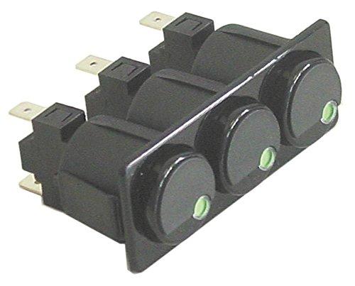 Fiamma - Interruptor de presión para tostadora TRD-30.2, TRS-20.2, TOSTI-D3, TOSTI-S3 250 V 1NO/1NO/1NO (conector plano de 6,3 mm, 16 A)