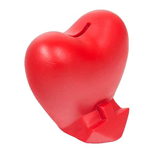 HMF 48920 Spardose Herz mit Schlüssel | Sparbüchse | 13,5 x 13,5 x 10 cm