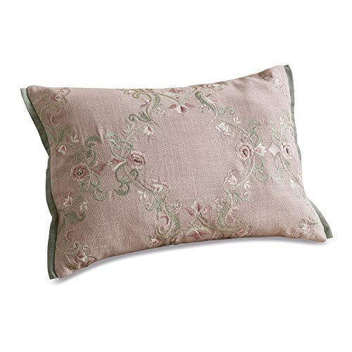 Loberon Kissen Lulu, Baumwolle, Viskose, Polyester, H/B 35/50 cm, rosa