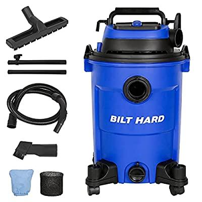 BILT HARD Shop Vac, 6.6 Gallon 4.5 Peak HP Wet/Dry Vac, 3 in 1 Portable Shop Vacuum Cleaner with Blower, Includes 1-7/8 Inch Hose, Filter, and Accessories - CSA Certified