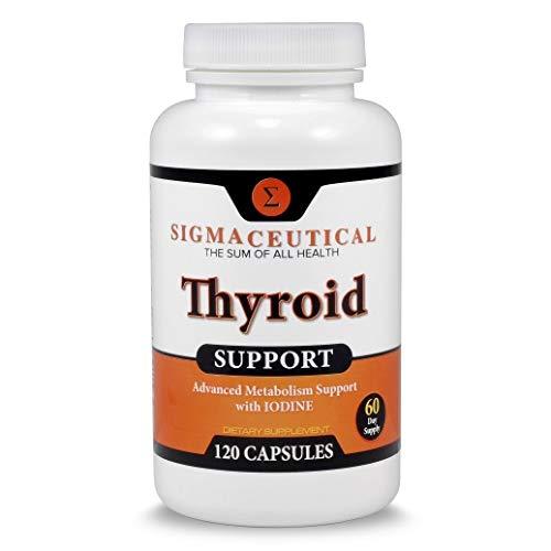 Zinc & Selenium Supplement - Thyroid Support Supplement - Iodine Capsules - Kelp Supplement - 120 Capsules