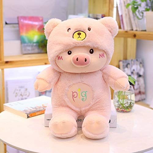 N / A 30cm Kawaii Cross-Dressing Piggy Plush Toy Soft Cartoon Animal Gato / Oso / Perro Muñeca de Peluche Niñas Regalos de San Valentín 30cm