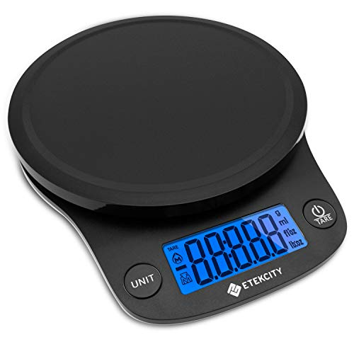 Etekcity 0.1 Gram Food Scale Digital Kitchen Weight for Cooking and Baking, Large, Black