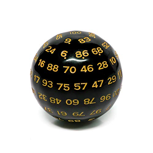 Polyhedral Dice 100 Sides Dice, D100 die, 100 Sided Cube, D100 Game Dice, 100-Sided Cube of Provide Fonts in White, Blue,Green,Yellow and Red .