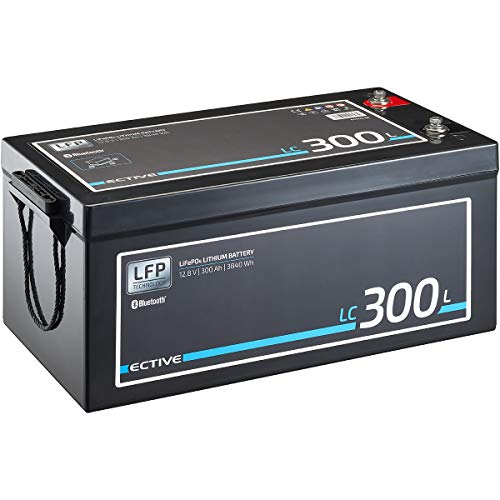 ECTIVE LC300L BT 12V 300Ah 3840Wh LiFePO4-Batterie mit Bluetooth-Funktion Lithium-Eisenphosphat Versorgungs-Batterie inklusive App