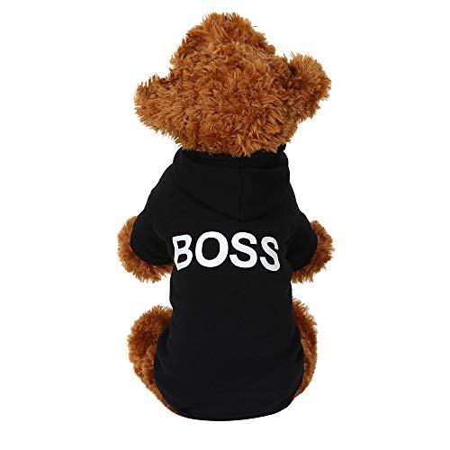 Haustier Kleidung,SUCES Hündchen Katze Weste T-Shirt Bekleidung Kleidung Haustier T-Shir Hundekostüm Weiches und Bequemes Hund Pullover für Kleine und Mittlere Hunde Katze Welpen (L, Black)