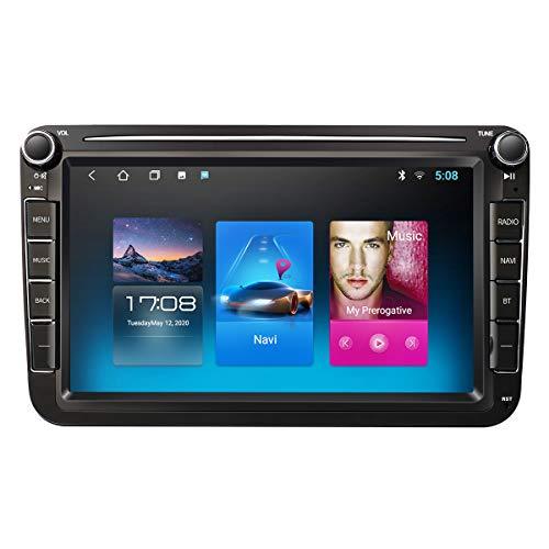 Android 10.0 2Din Auto Radio Multimedia Video Player mit Navi GPS-Navigation WiFi DAB+ Stereo Autoradio Kompatibel mit VW/Skoda/SEAT/Passat CC/Golf 5 6 7/Polo/Octavia(1G RAM 16 GB ROM)