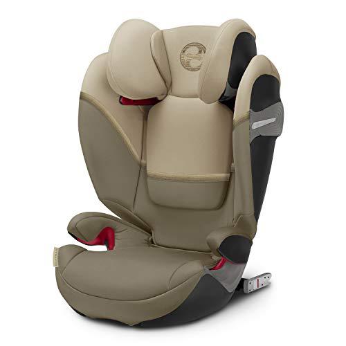 CYBEX Gold Kinder-Autositz Solution S-Fix, Für Autos mit und ohne ISOFIX, Gruppe 2/3 (15-36 kg), Ab ca. 3 bis ca. 12 Jahre, Classic Beige