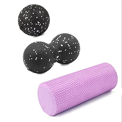 30/45 cm Bloque de rodillo de espuma de yoga Pilates Rodillo de espuma de espuma EVA Muscle Roller Herramienta de autoasticación adecuado para gimnasio Pilates Yoga Equipo de fitness de yoga Masajeado