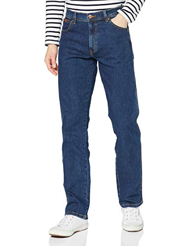 Wrangler Herren Texas Contrast\' Jeans, Blau (Darkstone 3009), 46W / 36L