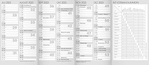 Taschenkalender Ersatzkalendarium 2023 Jahresüberblick Monatsüberblick Kalender 10-70010003
