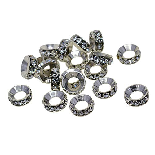 freneci Wholesale 20Pcs Round Alloy Spacer Beads DIY Jewelry Making Findings 7mm