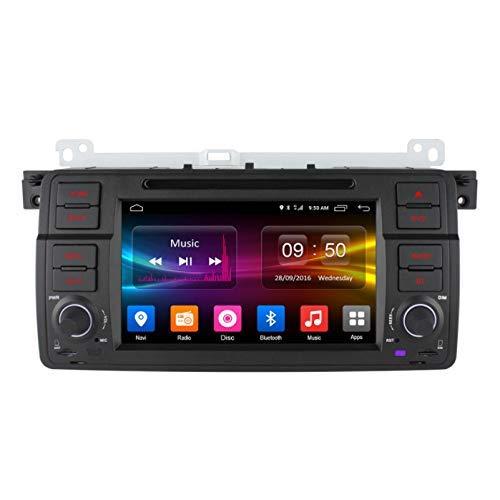 FDGBCF Navegación GPS Android 6.0 para BMW Serie 3 E46 / M3 1998-2006 Pantalla táctil HD 1080P de 7 Pulgadas con GPS 4G WiFi Soporte Bluetooth Teléfono móvil Radio de Coche, 1G + 16GB