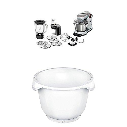 Bosch Optimum MUM9DT5S41 Küchenmaschine (1500 Watt, SensorControl Plus, edelstahl-Rührschüssel, 7 Schaltstufen) platinum silber + MUZ9KR1 Zubehör für Küchenmaschinen