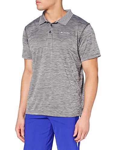 Columbia Kurzärmliges Poloshirt für Herren, Zero Rules Polo, Polyester, grau (Shark Heather), Gr. M, AM6082