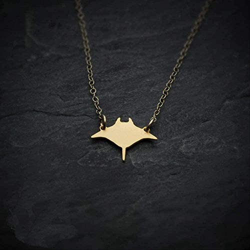 ZJJLWL Co.,ltd Necklace Manta Ray Fish Necklace Mini Charm Pendant Necklaces Jewelry for Men and Women