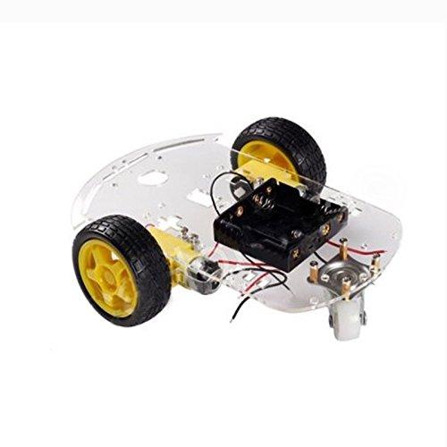 Jaimenalin 2WD Motor Inteligente Robot Coche chasis Kit Encoder bateria Caja de Velocidad para