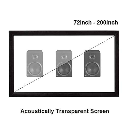 ZFFSC HD Projector Acoustically Transparent Projector Screen Sound Acoustic Transparent Weave Perforated Aluminum Alloy Flocking Fixed HD Projector