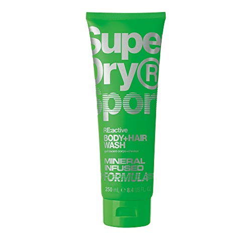Superdry RE:acive men's Body + Hair Wash Tube, 250 ml