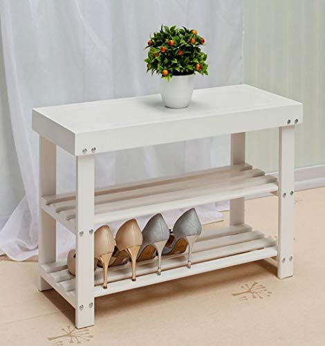 LONGJUAN-C Zapato Simple rack de madera natural de almacenamiento en rack de almacenamiento en rack Multi-capa de sustitución de zapatos Stool de múltiples funciones del estante de almacenamiento (bla