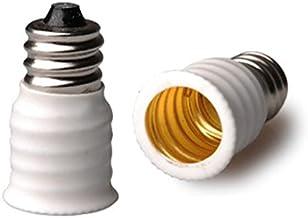 E-simpo® 5-Pack E12 to E14 Adapter, E12 to E14 Lamp Base Converter, Chandelier Lamp Base Adapter