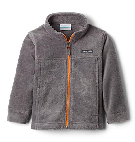 Columbia Boys' Toddler Steens Mt II Fleece Jacket, City Grey/Flame Orange, 3T