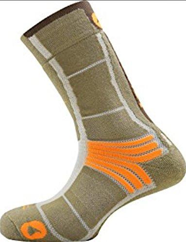 MONNET - Chaussettes Trek AIR Brun/Orange 39/40