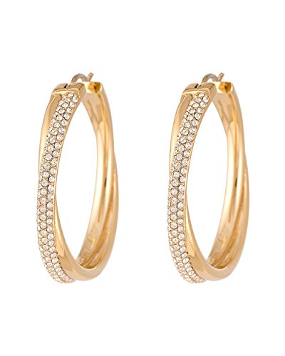 Michael Kors Women's Creole Earrings Stainless Steel with Gold-MKJ3669710