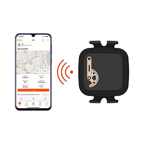 CooSpo Trittfrequenzsensor Ant+ Geschwindigkeitssensor Bluetooth Fahrrad Sensor Speed Cadence Sensor Wasserdicht Ant+ Sensor für iPhone, Android