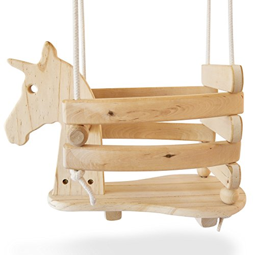 Ecotribe Wooden Unicorn Swing Set for...
