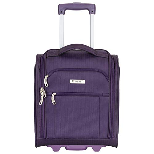 Flight Knight 16.5' Underseat Luggage Carry On Smart Cabin Suitcase 2 Wheels for easyjet, Ryanair, British Airways, Also Ideal for Trains & Coaches