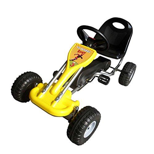 vidaXL Pedal Gokart 89x52x51cm Gelb Kinderfahrzeug Tretauto Gokart Rennkart