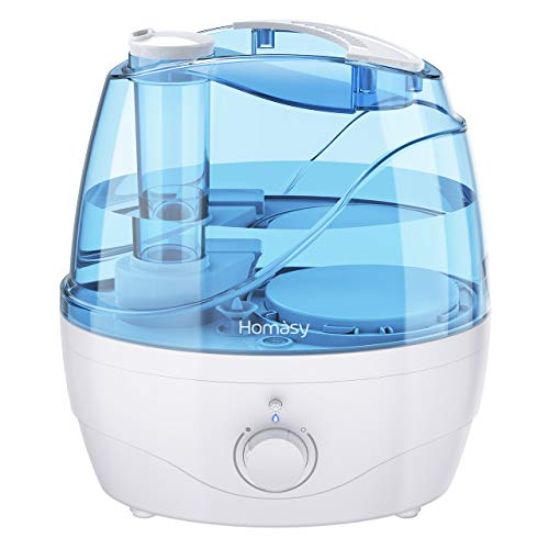 Homasy 2200ml Humidifier, Ultrasonic Cool Mist Humidifier with Independent Power Adapter, Quiet &...