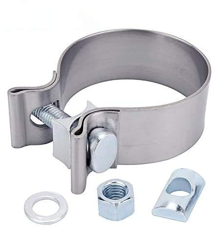 SYKRSS 2.5'Stainless Steel Narrow Band Exhaust Seal Clamp with 1 Block