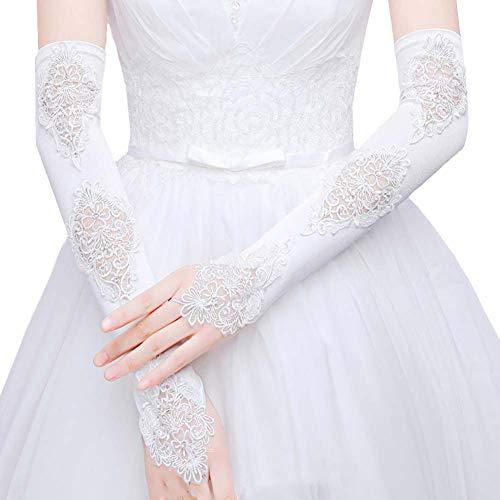 Gants de mariée mariage robe de soirée dentelle longs gants A07