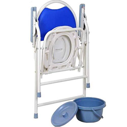 Z-SEAT Elderly ty Chair, klappbarer Nachttisch mit Kommodeimer, Porta ty für Erwachsene - Tragbare Toilette für Camping