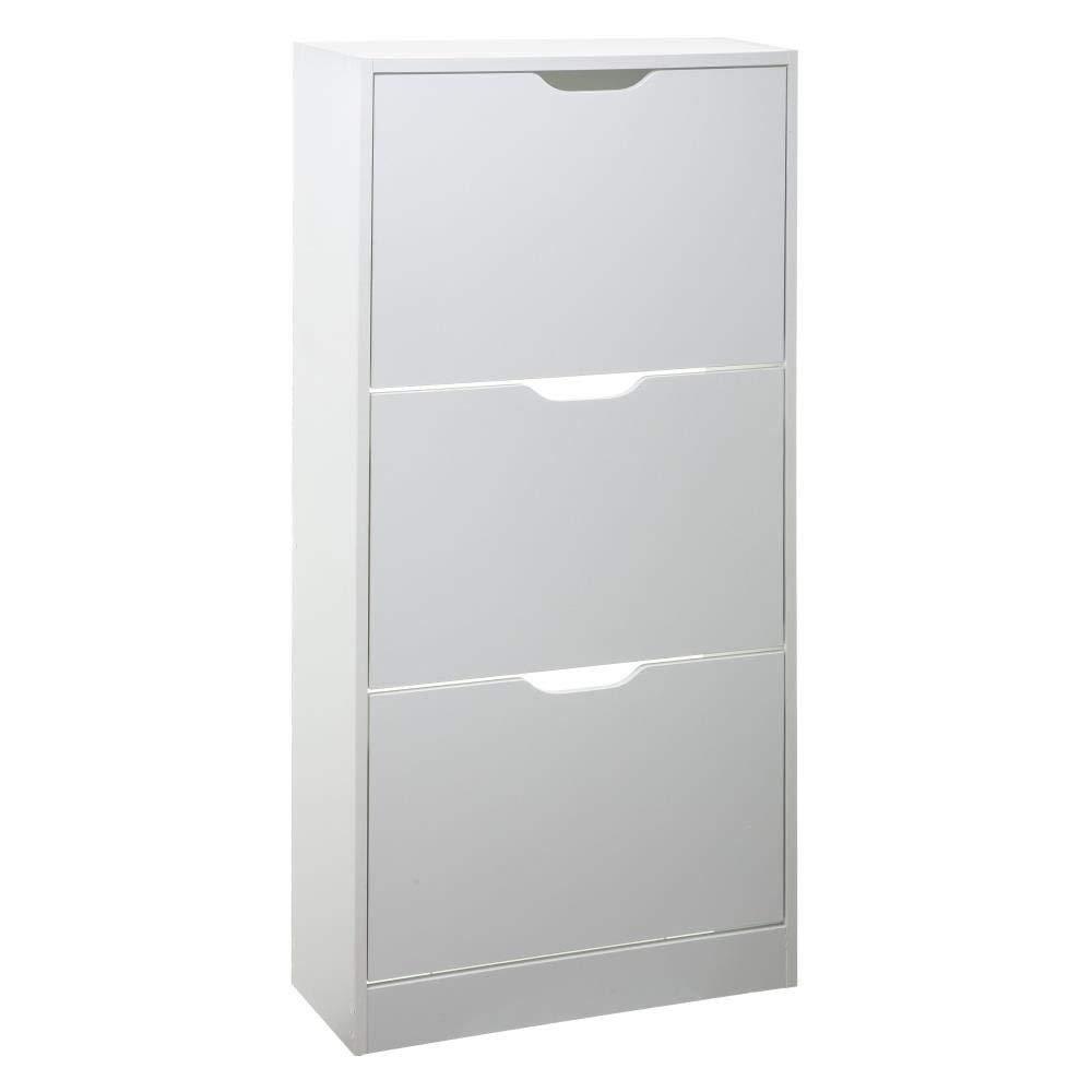 Mueble para zapatos con 3 compartimentos 49x135 cm IKEA BISSA blanco