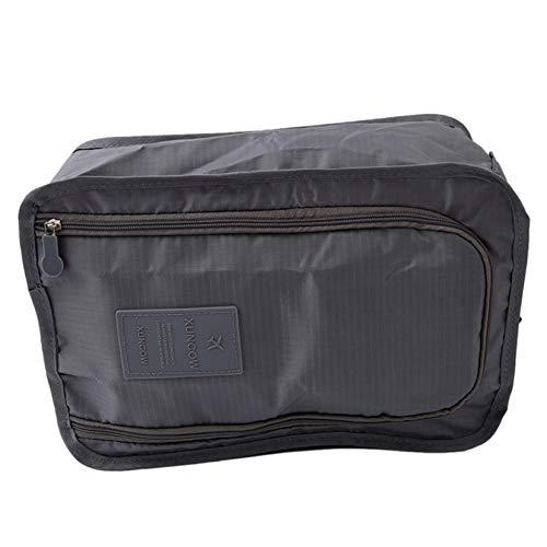 ULILICOO Tragbare Schuhtasche Faltbare Schuhablage mit Reißverschluss für Reisen und Aufbewahrung zu Hause (grau)