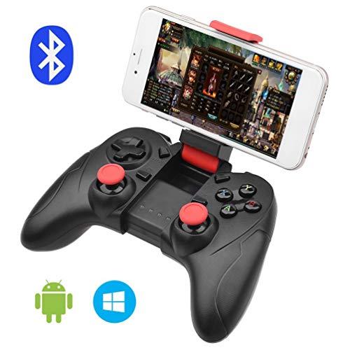 QCHEA Controlador de Juegos Bluetooth Gamepad inalámbrico Controlador de teléfono Recargable con función de vibración, Compatible con Android, Tableta, TV, Caja de TV, VR