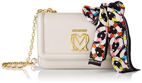 Love Moschino, Borsa a Spalla, Collezione Estate Bolso de hombro, colección Primavera Verano 2021 para Mujer, Color blanco, Talla única