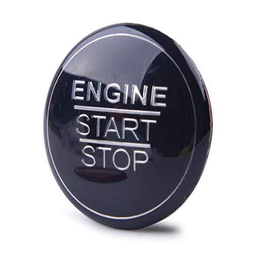 beler Arrêt de démarrage du moteur de voiture Bouton d'allumage Bouton décoratif Cache noir