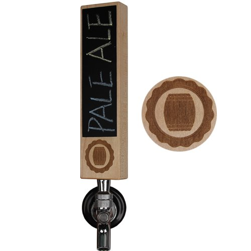 Fanfoobi Wooden IPA Beer Tap Handle with Chalkboard, Kegerator Tap Handle,8' Length X 2' Wide, Great for tap rooms,breweries and home kegerators