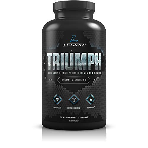 Legion Triumph Daily Men Multivitamin Supplement - Vitamins and Minerals for Athletes Helps w/Mood, Stress, Immune System, Heart Health, Energy, Sports & Bodybuilding Workouts. 30 Svgs.…