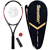 Senston 27 '' Tennis Racket, Adult Tennis Racket Including Tennis Bag and Overgrip and Vibration Damper