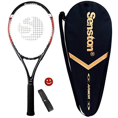 Senston Raquette de Tennis 27'', Raquette de Tennis Adulte, y Compris Sac de Tennis et Surgrip et Amortisseur de Vibrations