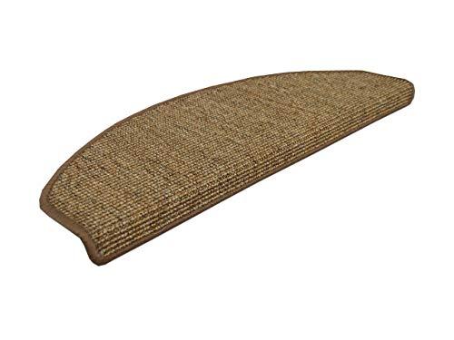 Natur Sisal Stufenmatten Nuss (halbrund) einzeln oder im 15er Set in 2 Größen, Größe/Menge:18x56 cm = 15 Stck.