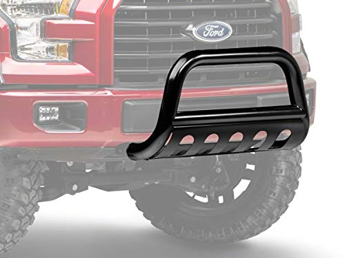 Barricade 3-Inch Bull Bar with Skid Plate; Gloss Black for Ford F-150 2004-2020