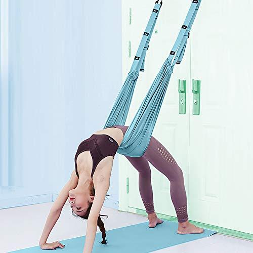 XiYee Yoga-Hängematte, Trapezschaukel Set, Yoga Schaukel Nylon Anti-Schwerkraft Hängematte Schlinge Inversion für Pilates Gymnastik, Training vertikal Schaukel Akrobatik Tuch Stoffe Zubehör (B)