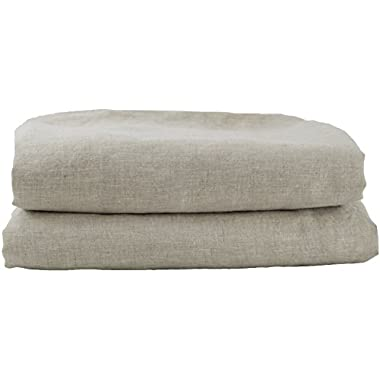 Hotel Sheets Direct 100% French Flax Linen Duvet Cover (King, Natural)