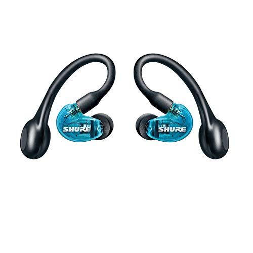 SHURE シュア AONIC 215 完全ワイヤレス高遮音性イヤホン / SE215SPE-B-TW1-A トランスルーセントブルー :外音取り込み/Bluetooth 5.0 / Type-C ケーブル 【アップデート版/国内正規品/メーカー保証2年】